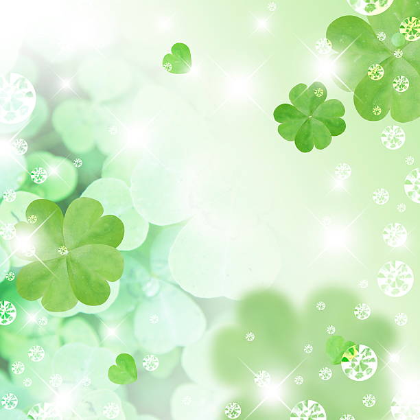 Four Leaf Clover and sequins, CG:スマホ壁紙(壁紙.com)