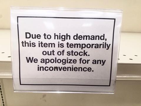 Supermarket「Out OF Stock Sign」:スマホ壁紙(9)