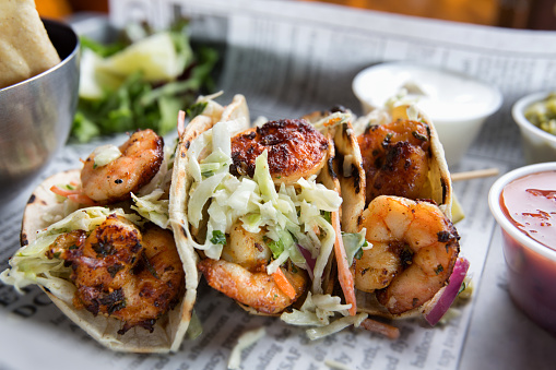 Cajun Food「Grilled Shrimp Tacos」:スマホ壁紙(19)