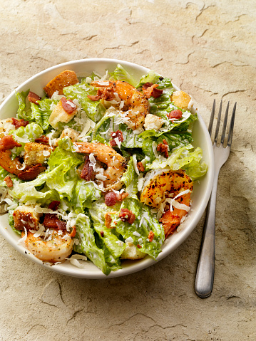 Caesar Salad「Grilled Shrimp Caesar Salad」:スマホ壁紙(13)