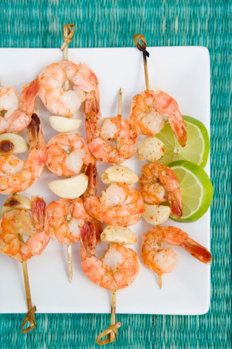 Garlic Clove「Grilled shrimp skewers with garlic」:スマホ壁紙(6)