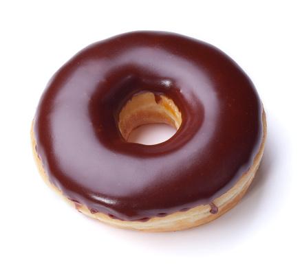 ドーナツ「チョコレートのドーナツクリッピングパス」:スマホ壁紙(1)