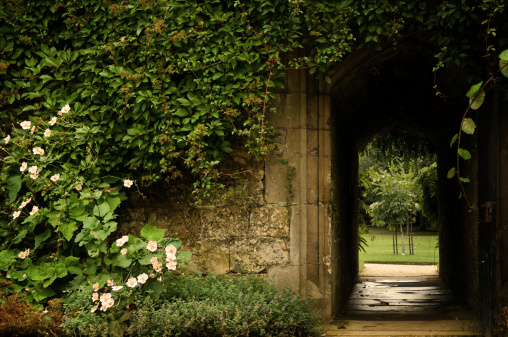 Brick Wall「Secret Garden Door」:スマホ壁紙(9)