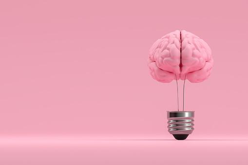 Development「Brain inside the light bulb, Creative Idea Concept」:スマホ壁紙(7)