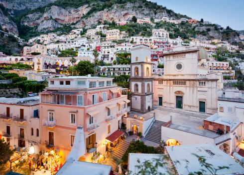Amalfi Coast「Positano at dusk」:スマホ壁紙(10)