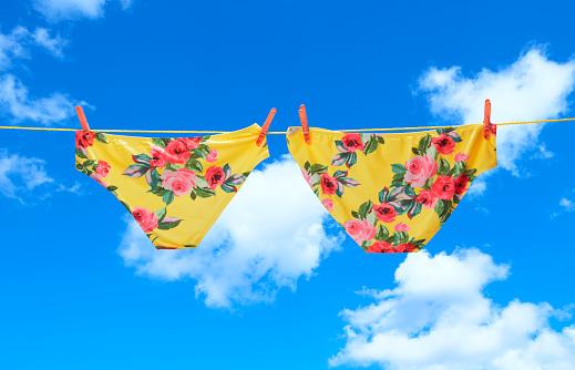 Bikini Bottom「Yellow flower dieting pants on line」:スマホ壁紙(19)