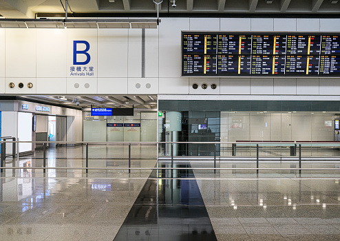 Airport Check-in Counter「Empty arrival area」:スマホ壁紙(6)