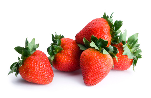 Berry Fruit「Five strawberries」:スマホ壁紙(15)