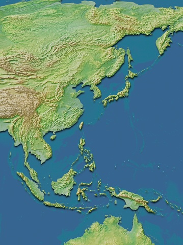Map「Map of Japan and Southeast Asia.」:スマホ壁紙(18)