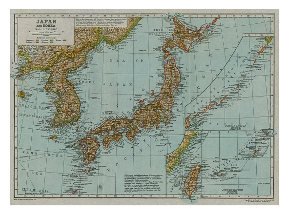 South Korea「Map Of Japan And Korea」:写真・画像(6)[壁紙.com]