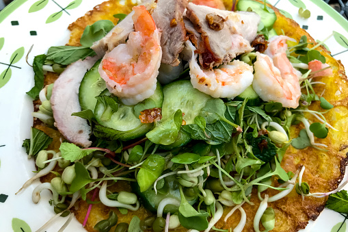 Bean Sprout「Shrimp salad and greens.」:スマホ壁紙(2)