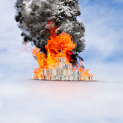 Battle「Pile of cash on fire going up in smoke」:スマホ壁紙(15)