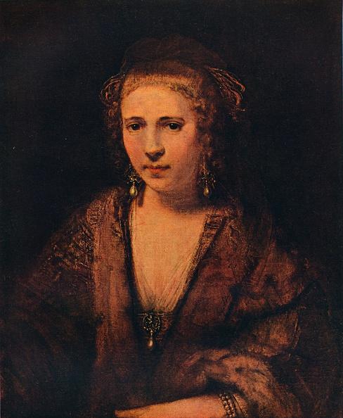 Beret「'Portrait of Hendrickje Stoffels with a Velvet Beret ', c1654」:写真・画像(17)[壁紙.com]