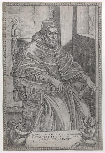 Etching「Portrait Of Pope Sixtus V」:写真・画像(1)[壁紙.com]