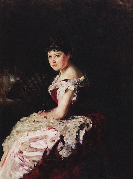 Chromolithograph「Portrait Of The Opera Singer Maria Klimentova-Muromtseva (1857-1946)」:写真・画像(6)[壁紙.com]