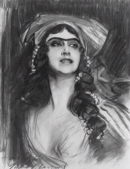 Lithograph「Portrait Of The Ballet Dancer Tamara Karsavina (1885-1978) As Thamar In The Ballet Thamar By M.A. Ba」:写真・画像(11)[壁紙.com]