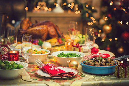 Place Setting「Table set up for Christmas Dinner」:スマホ壁紙(9)