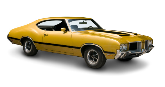 Sports Car「Yellow Oldsmobile 442 Muscle Car」:スマホ壁紙(12)