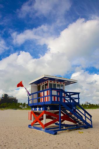 Miami Beach「Patriotic lifeguard stand, Miami Beach」:スマホ壁紙(14)