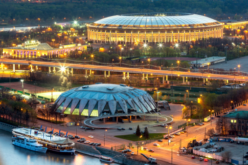 Russia「Moscow sports arena at night」:スマホ壁紙(13)