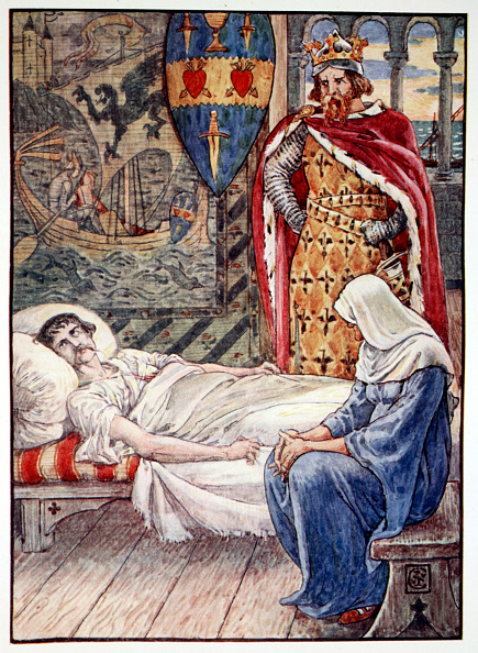Bedroom「The Witch Gives Advice As To Sir Tristram's Wound' 1911」:写真・画像(15)[壁紙.com]