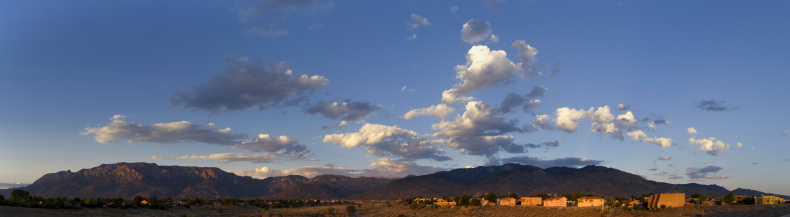 Sandia Mountains「Southwestern Landscape with Sandia Mountains」:スマホ壁紙(3)