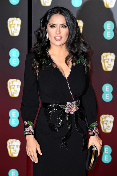 Salma Hayek「EE British Academy Film Awards - Red Carpet Arrivals」:写真・画像(18)[壁紙.com]