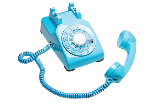 Old-fashioned「Vintage Rotary Telephone Off the Hook」:スマホ壁紙(17)