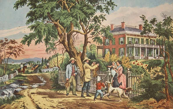 October「American Country Life - October Afternoon,Pub 1855」:写真・画像(0)[壁紙.com]