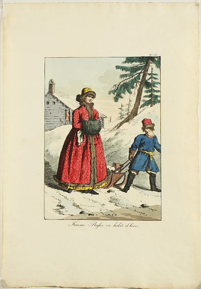 Tradition「Russian Winter Clothing (From Moeurs et Costumes des Russes), 1817」:写真・画像(8)[壁紙.com]