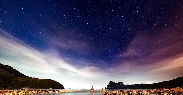 Night sky with stars:スマホ壁紙(壁紙.com)
