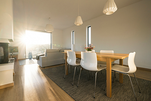 Dining Room「Home interior of a modern house」:スマホ壁紙(18)