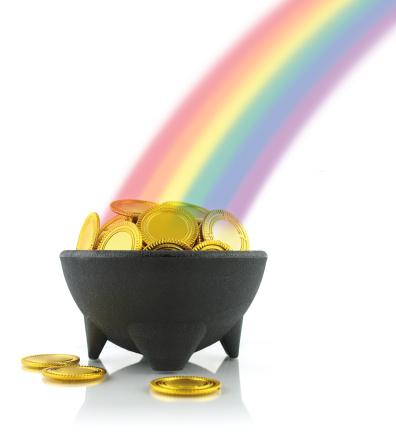 虹「黄金入りの壷、レインボー」:スマホ壁紙(8)