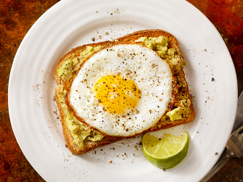Toasted Food「Avocado Toast with a Fried Egg」:スマホ壁紙(7)