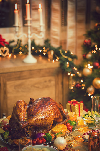 Stuffed Turkey「Traditional Stuffed Christmas Turkey with Side Dishes」:スマホ壁紙(19)
