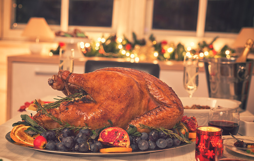 Turkey - Bird「Traditional Stuffed Christmas Turkey with Side Dishes」:スマホ壁紙(15)
