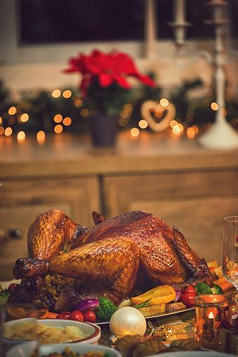 Turkey - Bird「Traditional Stuffed Christmas Turkey with Side Dishes」:スマホ壁紙(12)