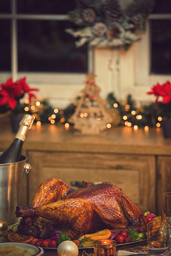 Stuffed Turkey「Traditional Stuffed Christmas Turkey with Side Dishes」:スマホ壁紙(17)