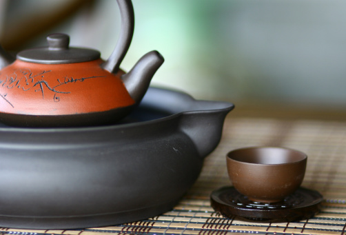 Teapot「Traditional Chinese Teapot Set with Cup」:スマホ壁紙(5)
