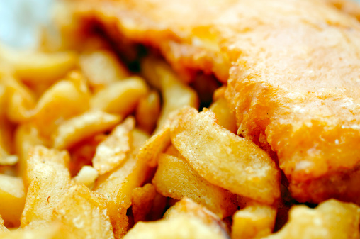 Deep Fried「traditional english fish and chips close up」:スマホ壁紙(10)