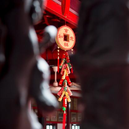 春節「Traditional Chinese decorations in temple」:スマホ壁紙(16)