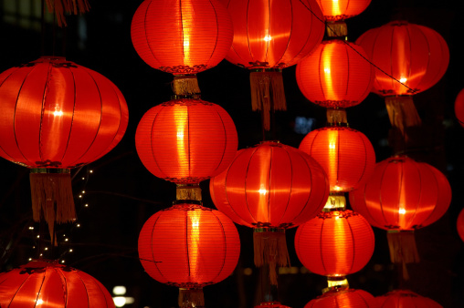 Chinese Lantern「Traditional red hanging chinese lanterns」:スマホ壁紙(18)