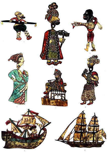 Traditional  Turkish shadow puppets:ニュース(壁紙.com)