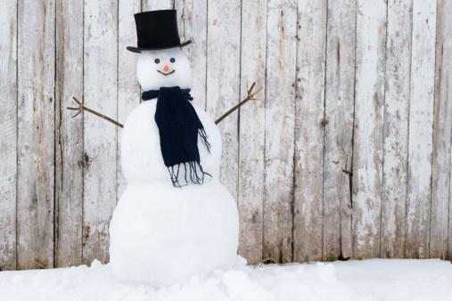 雪だるま「従来のスノーマンです。」:スマホ壁紙(1)