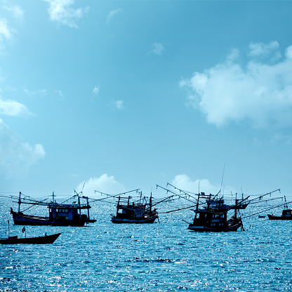 PGA Event「Traditional fishing boats on Gulf Of Thailand sea」:スマホ壁紙(9)