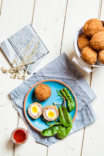 スコットランド文化「Traditional Scottish snack food Mini Scotch Eggs」:スマホ壁紙(16)
