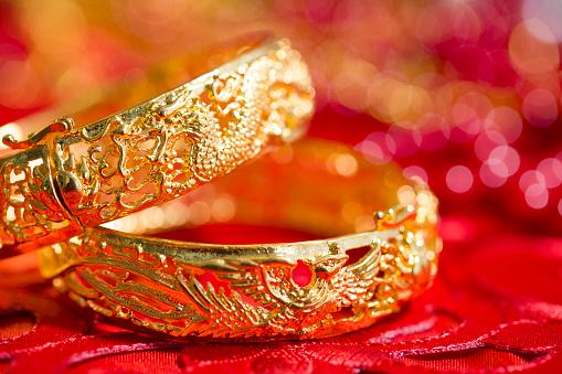 恋愛運「Traditional Chinese wedding elements」:スマホ壁紙(1)