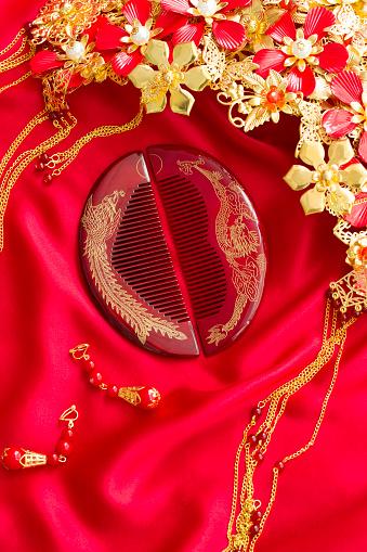 恋愛運「Traditional Chinese wedding elements」:スマホ壁紙(2)