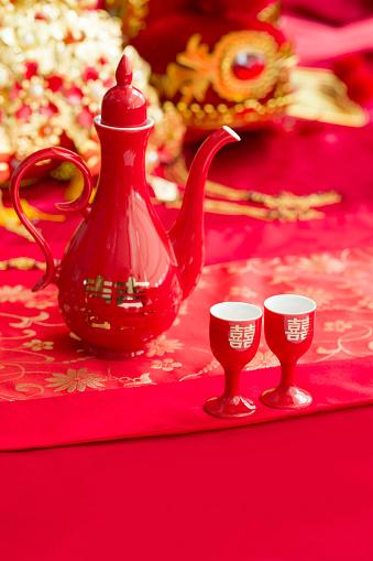 恋愛運「Traditional Chinese wedding elements」:スマホ壁紙(15)