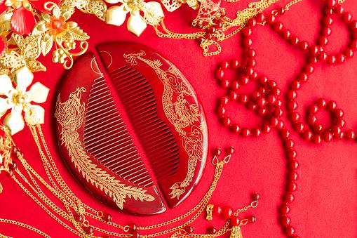 恋愛運「Traditional Chinese wedding elements」:スマホ壁紙(16)